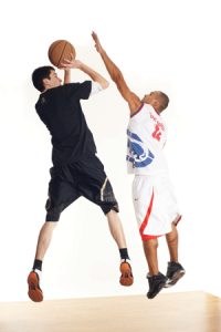 confident shooting in basketball