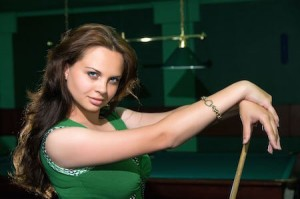 Pool billiard player